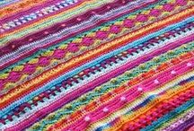 Crochet blankets ect / Blankets cloths and household swag