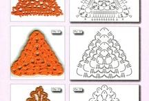 trójkąty szydełkowe