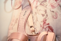 I Love Weddings.............. Bridal Shoes  / How gorgeous are these shots of Bridal Shoes.  I love that a pop of colour can be seen beneath the layers or tulle, organza and silk!