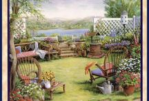 Art- Gardens And More / Includes patios, porches, backyards, courtyards, public and botanical gardens.