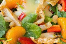 Salads and healthy food