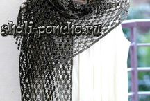 """Knitting/crochet: shawl, poncho, shrug, wrap, pelerine / About scarfes - please, you can see another board """"Knitting/crochet: scarf"""""""