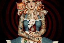 Alice / Tattoos and Wonderland.