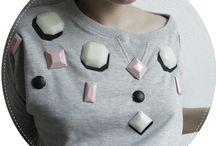 Rhinestone embellished sweatshirts / by Aimee Clones N Clowns