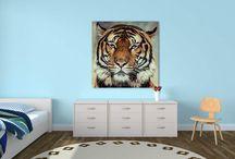 Animaux déco ! / Il y en a pour tous les goûts ! Choisissez un tableau en toile ou en plexiglas pour votre décoration murale.