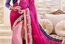 """Stylish Party Wear Sarees / Wondering what to wear in your next kitty party or anniversary party? Choose from the latest collection of designer party wear sarees collection online that will make you go """"WOW"""". Take a look now from http://www.mishreesaree.com/Online/Sarees/Party-Wear-Sarees"""