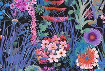 Colourful textile designs