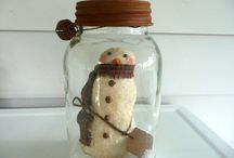 Snow man jar