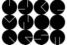 Typographic Circles Design
