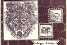 Cards: Stampin Up Wolves