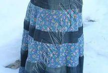 sukňa šitá