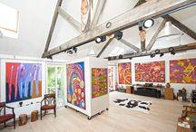 Exposition d'art Aborigène / Art Aborigène d'Australie. Peintures d'Art Aborigène. Galerie d'art. Aboriginal art.