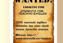 İngilizce Özel Ders / İngilizce özel ders ilanı, İngilizce dil öğrenimi