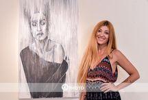Παραλληλί-ζω!  ... My painting with lines / Paintings on canvas. Lines