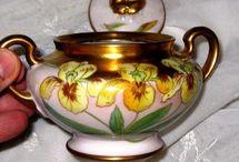 Porcelain Treasures - exceptional Ceramics / As a porcelain painter by profession I covet old, antique handpainted porcelain! Unusual unique ceramics are also favorites. :