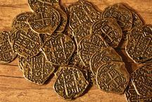 Replik spanischer Doublonen / Münzen / #Replik spanischer Doublonen / #Münzen #spanische Doublonen #LARP Geld #Gold Stück 0,60 Euro (Material: Zamak) Bestellung hier: http://lpl-shop.de/de/Muenzen/