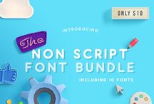 The Non Script Fonts Bundle / Our latest bundle is here!! Get this awesome collection of 10 non script fonts for just $10, that is ONLY $1 per font. This amazing pack is over 90% OFF RRP but is only available for just a few weeks.