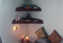 Meditation Rooms and Spaces / What's your ideal place to meditate in? Do you like earthy colors and relaxing aromatherapy? These are serene meditation space ideas to inspire you to breathe and relax. Use them as your yoga room, too!  [Easy yoga poses, yoga at home, yoga for back pain, yoga, yoga for beginners, back pain, how to relieve back pain, how to be flexible, how to practice yoga, physical therapy for yoga, core strengthening for yoga, Flexibility, yoga for beginners, yoga for flexibility, yoga for weight loss, meditation tips, yoga sequences, yoga at home, how to get flexible, how to meditate]
