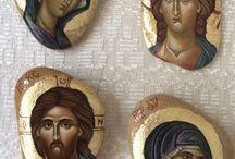 ikony na kamieniu