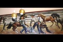 Cowboy Rodeo WPA Mural To Be Removed Conservation Consultation and Restoration in Lamesa Texas