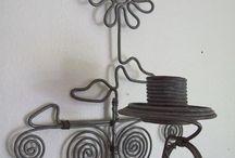 wire sculpture - flower