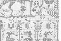 cross stitch - medieval