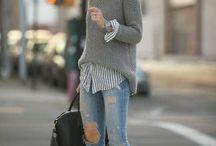grey jumper looks