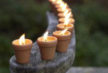 Výzdoba svícny,svíčky.....