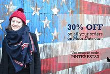 Your MoonCats discounts ! / Here you will find our special Pinterest promotions, because we love you :)