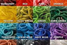 loom bands / Cool colourful elastic band bracelets