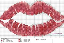 Cross stitch - kisses