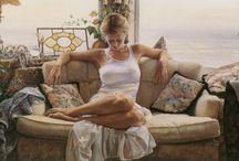 Steve Hanks / Some of these paintings are so lifelike... I Just love the dappled sun effect. The water is just stunning. Fantastic Art