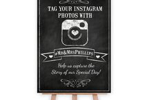 Wedding & Party Signs / Our new designs for Welcome and Instagram signs