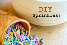 Sprinkles & Sparkles & Confetti / Sprinkles, Edible Glitter, Confetti, Flour, Sugar.. pretty much anything that can make a beautiful mess!