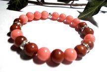 Náramky  minerální , čakrové , říční perly