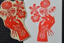 Lino Screen Prints