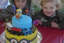Cake minions, thomas the train
