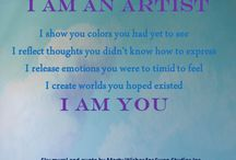 Inspirational  Art Quotes / Famous quotes and personal created quotes stemming from the love and creation of art