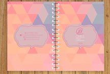 PAPELARIA LANTEJOULA - Agenda anual / A agenda anual da Lantejoula é possui capa dura personalizada, encadernação espiral, fitinha para marcar página, uma página por dia podendo ter ou não horário.