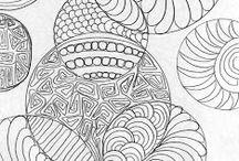 zentangle техника рисования