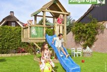 Jungle Gym Playsets / All the Jungle Gym Climbing Frames are modular. So start with a tower, then add on extra modules to customise your wooden climbing to your needs. Here are some images to give you some ideas.