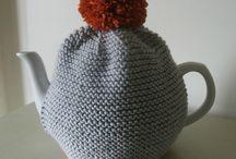 Knitting : Cosies
