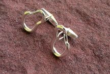 Rock climbing jewelry / Rock climbing jewelry Jewelry for climbers Gifr for climbers Climber gift Climber jewelry Carabner miniature