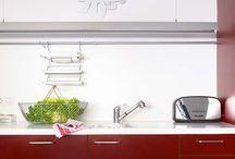 Cocinas rojas. / Atreveos con el rojo!!