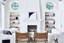 Brownstone modern living room