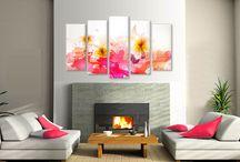 Tablouri decorative din 5 piese / Tablouri decor canvas, tablouri decorative 5 piese