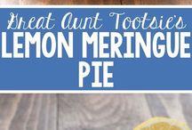 Lemon pie meringue