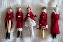 Wäscheklammer Puppen