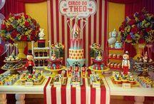 armado de mesa y decorado fiesta infantil circo