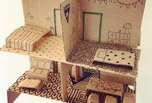 dollhouse cardboard